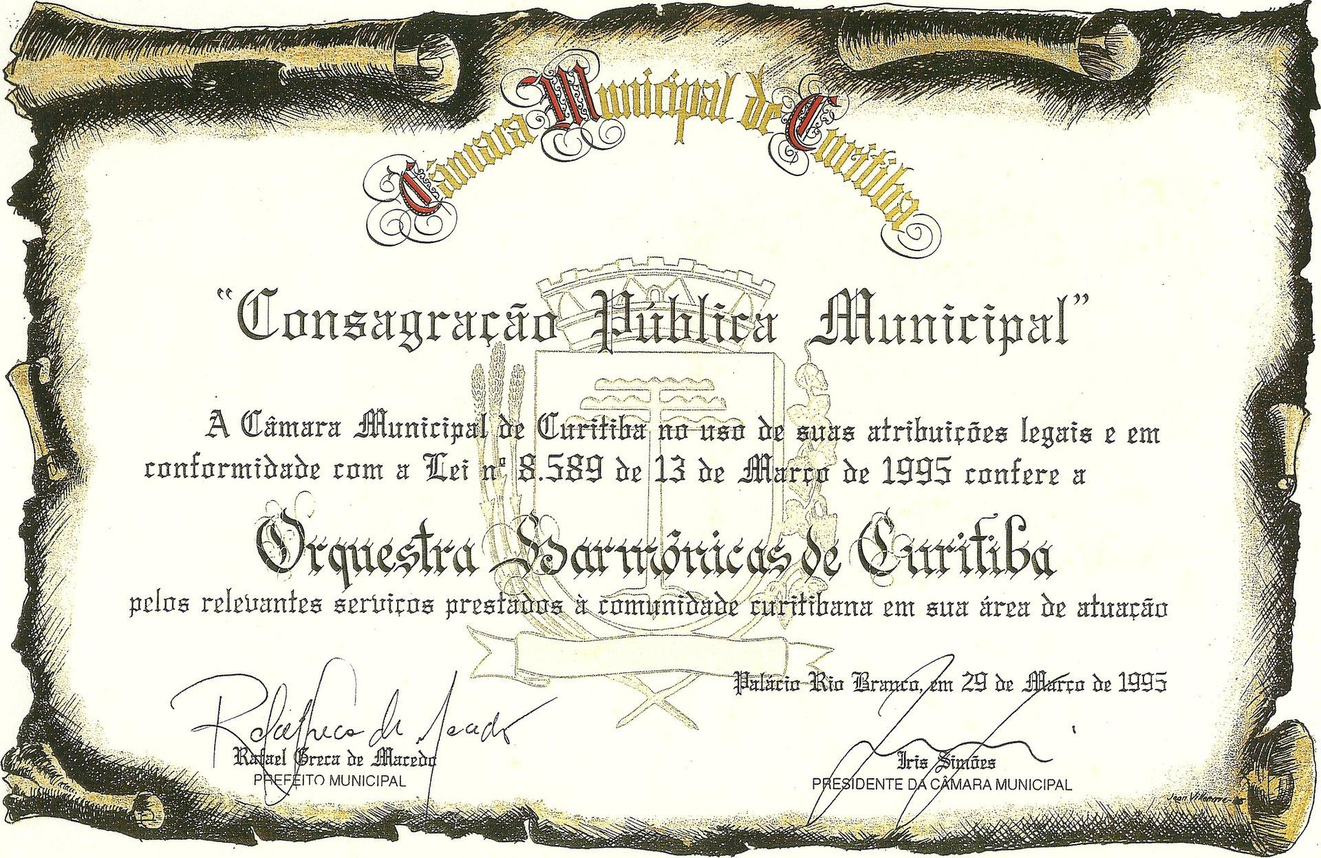 Consagração Pública Municipal