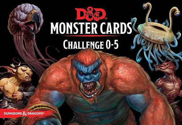 D&D Spell Book Cards: Monsters cr0-5