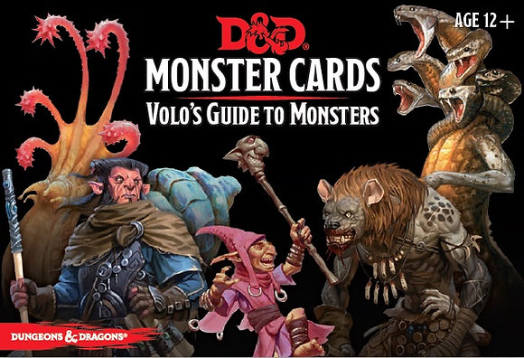 D&D Spell Book Cards: Volo's Guide to Monsters