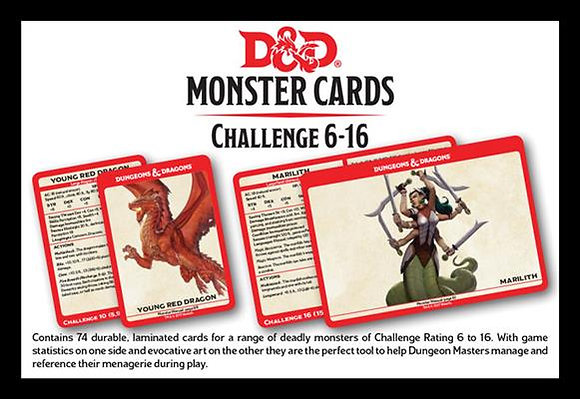 D&D Spell Book Cards: Monsters cr6-16