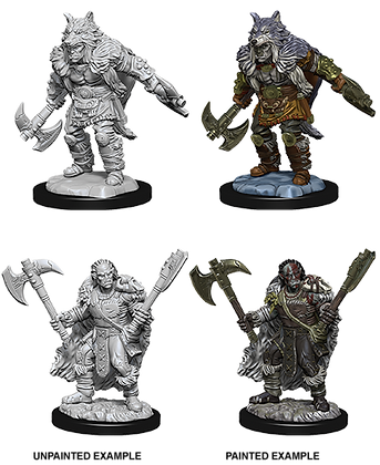 Half Orc Barbarian - Nolzurs Marvelous Miniatures
