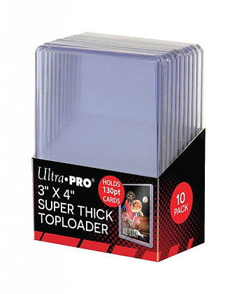 Ultra Pro Top loader 130pt with thick card sleeves 50ct