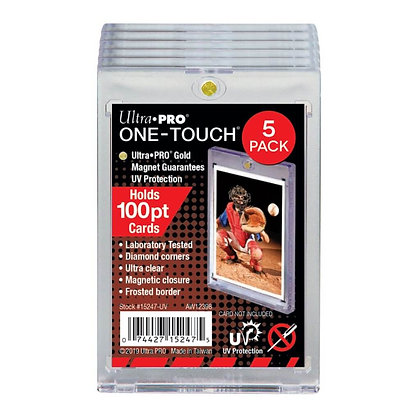 ULTRA PRO ONE TOUCH – 100PT -UV w/Magnetic Closure 5 PACK