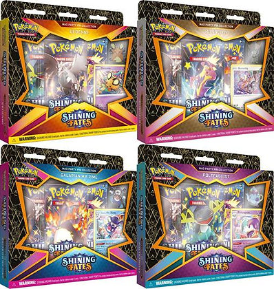 Pokemon TCG Shining Fates Mad Party Pin Collection