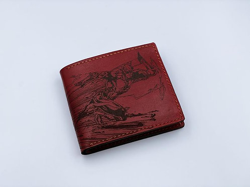 Мужской кошелёк с рисунком | Ручная работа | Вьетнам