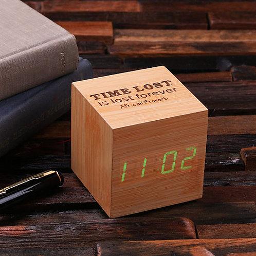 Деревянный будильник,будильник ручной работы,будильник, ручная работа,