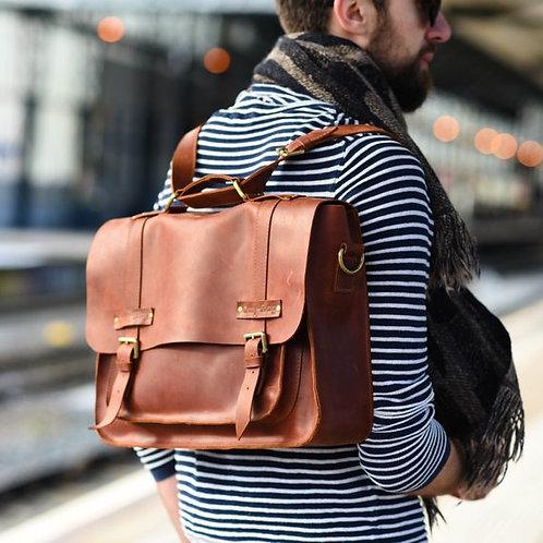 портфель из натуральной кожи, портфель ручной работы, купить стильный портфель ручной работы,OvLGroup,