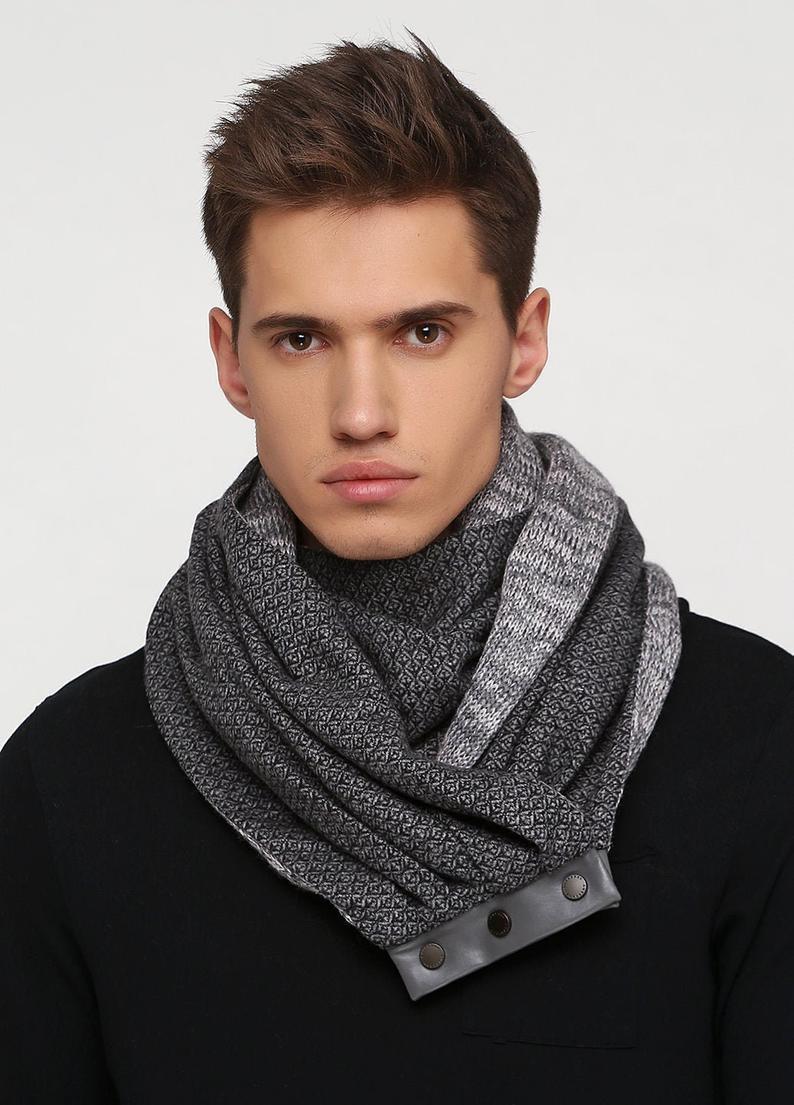 купить стильный шарф, шарф мужской, шерстяной шарф, купить шарф,