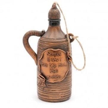 керамическая бутылка,сувенирная бутылка из глины, глиняные сувениры, керамические сувениры,