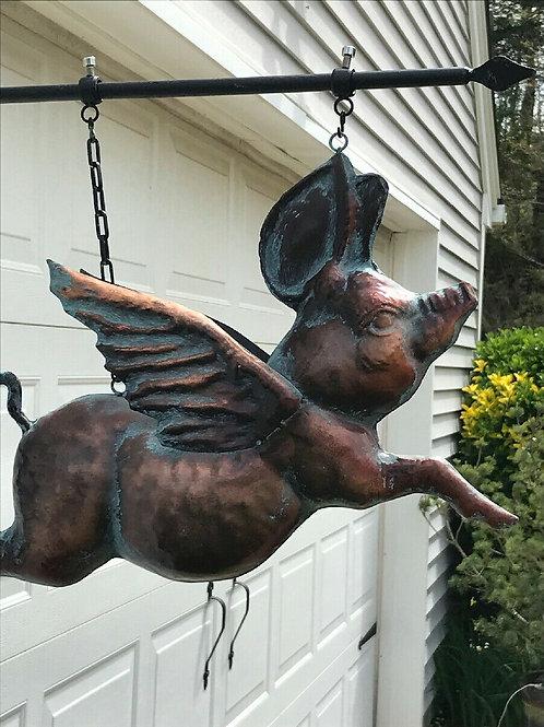Табличка, вывеска, летающий свин,ручная работа, OvLGroup,