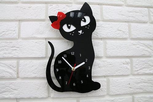 OvLGroup, часы настенные в виде кошки, часы настенные детские , купить часы настенные для ребёнка, купить настенные часы в де