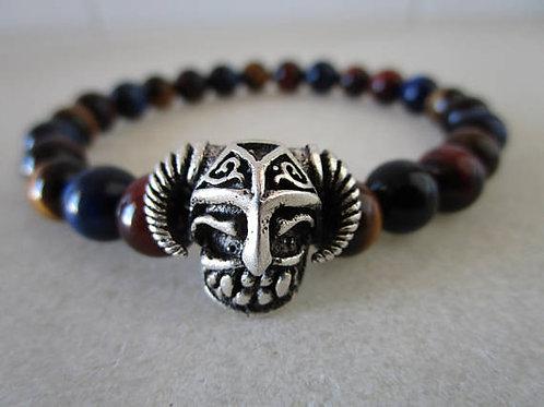 Натуральный камень,тигровый глаз, ручная работа,браслет из натурального камня, браслет Викинг, OvLGroup , купить браслет ,