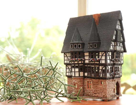 купить керамический домик в подарок, керамика, ручная работа,handmade,агенство OvLGroup,