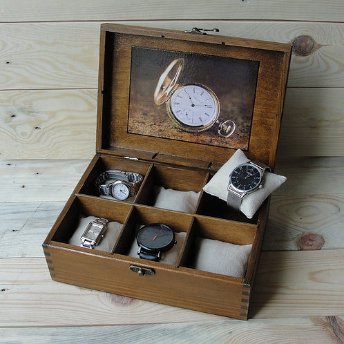 шкатулка для часов,шкатулка ручной работы, стильная шкатулка,купить шкатулку ручной работы,OvLGroup, красивая шкатука,