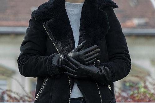 Чёрные зимние перчатки для женщин | Ручная работа | Венгрия