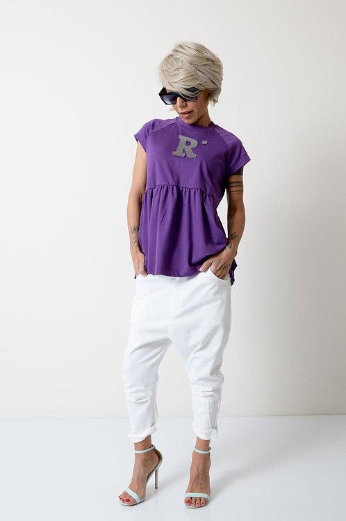 Фиолетовая женская футболка | Ручная работа | Болгария