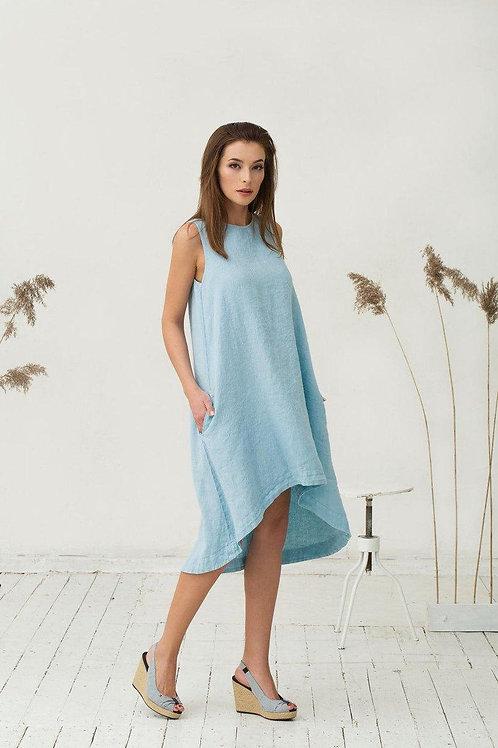 Платье ручной работы | Лён | Литва