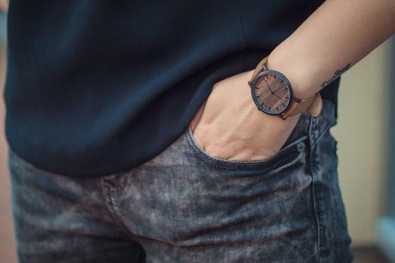 купить часы, купить стильные часы, купить часы с деревянным циферблатом, OvLGroup,