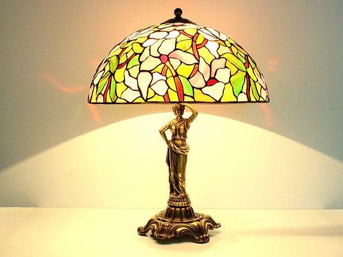Настольная ретро лампа ручной работы. Польша.