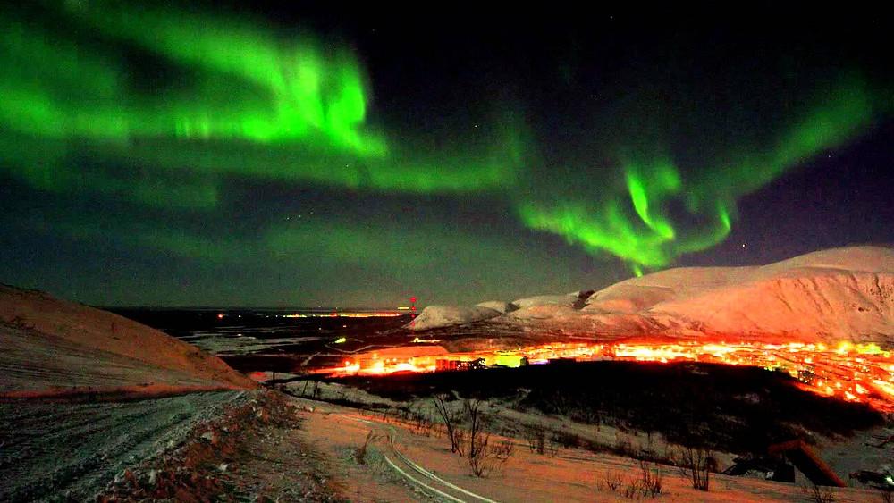 Norte, Luces del Norte, Kirovsk, región de Murmansk, OvLGroup,