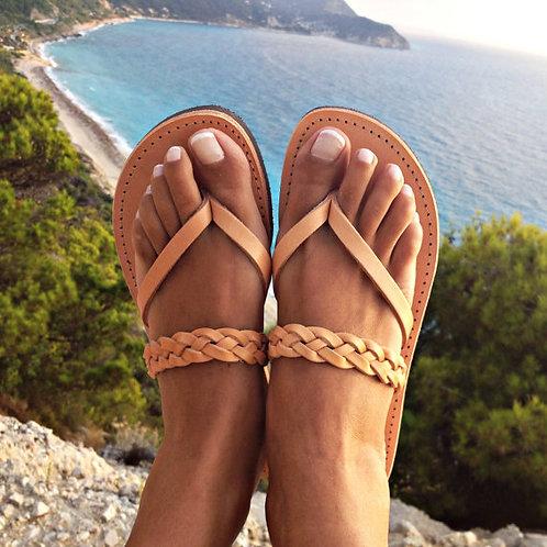 Women's sandals made of leather. Hand work. Greece.Женские сандалии из кожи.Ручная работа.Греция.