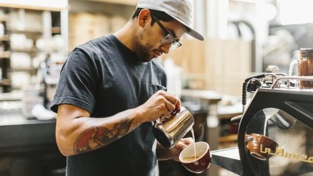 бариста , лучший кофе,