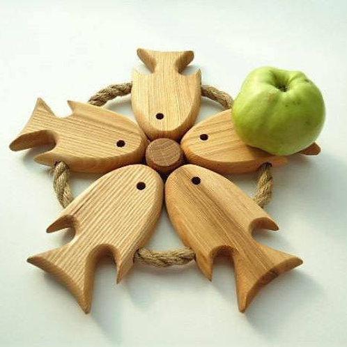 изделия из дерева, ручная работа,подставка под посуду.