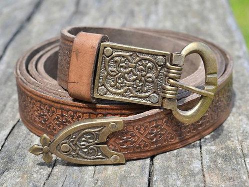 OvLGroup, кожаный ремень, средневековый ремень, купить ремень ручной работы,