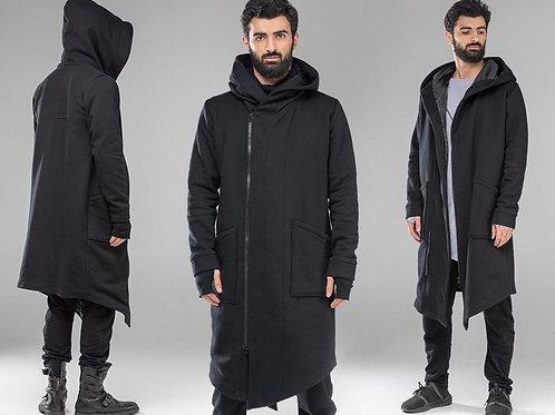 Мужское пальто с капюшоном в стиле готика.Ручная работа.Украина.
