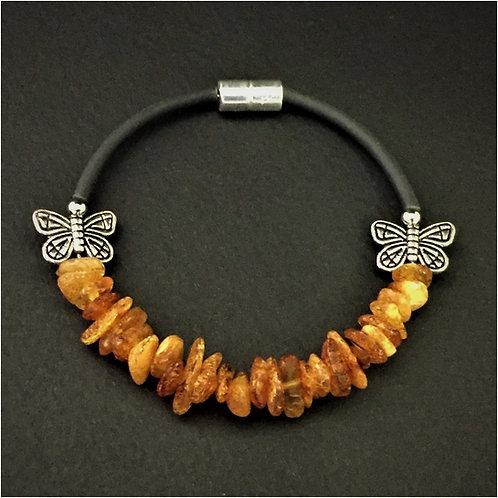 стильный браслет, браслет из янтаря, браслет ручной работы , браслет для девушки