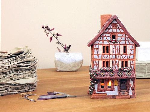 керамический домик, домик со свечой ,купить домик,OvLGroup, лучший подарок, купить подарок ручной работы,
