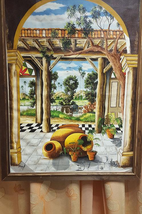 купить картину кубинского художника, картина маслом, интересная большая картина , OvLGroup,