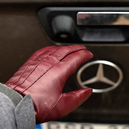 Мужские зимние перчатки с натуральным мехом | Ручная работа | Венгрия