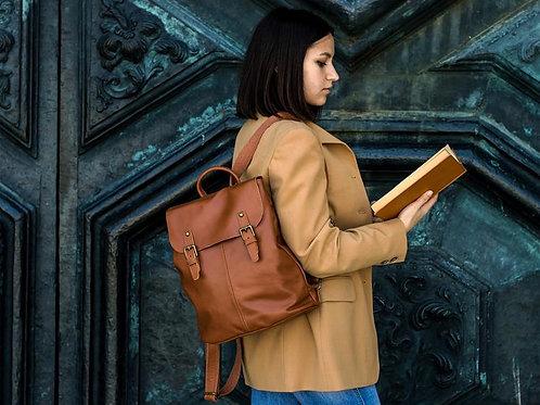Женский кожаный рюкзак   Ручная работа   Италия