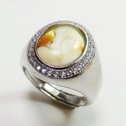 Кольцо с янтарём   Ручная работа   Литва