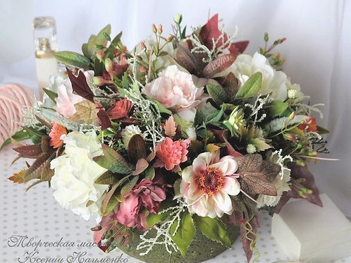 композиция Ксении Науменко , цветы в подарок , лучший топиарий,