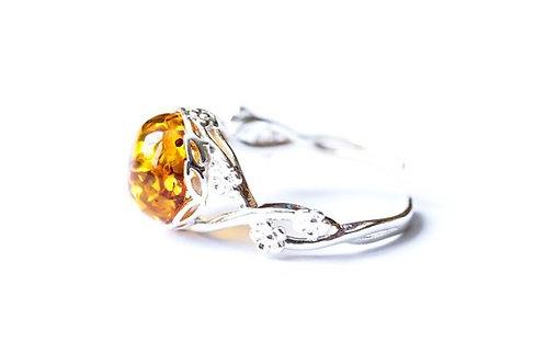 кольцо с янтарём ручной работы, купить кольцо авторское, удивительное кольцо, подарок для женщины,OvLGroup,