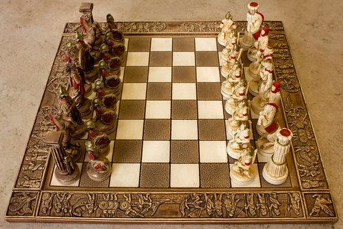 керамические шахматы ручной работы мастеров из Греции, 300 спартанцев , OvLGroup,