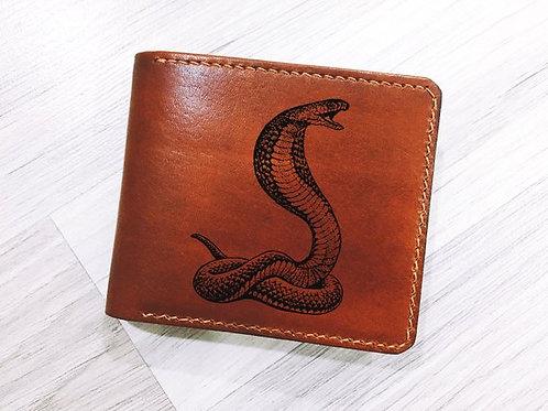 OvLGroup, кожаный кошелёк, купить кошелёк, кошелёк с коброй, кошелёк ручной работы,