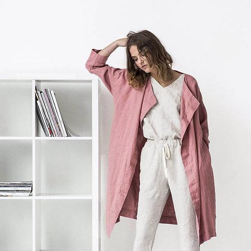 Стильная куртка, женская одежда, стильная женская одежда, женский плащ, льняной плащ,агентство OvLGroup,