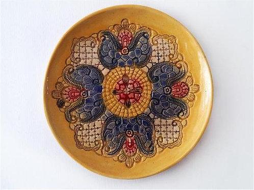 Тарелка , тарелка ручной работы, купить интерьерную тарелку ручной работы,OvLGroup,