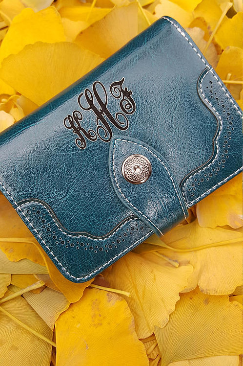 кожаный кошелёк, женский кошелёк, ручная работа,
