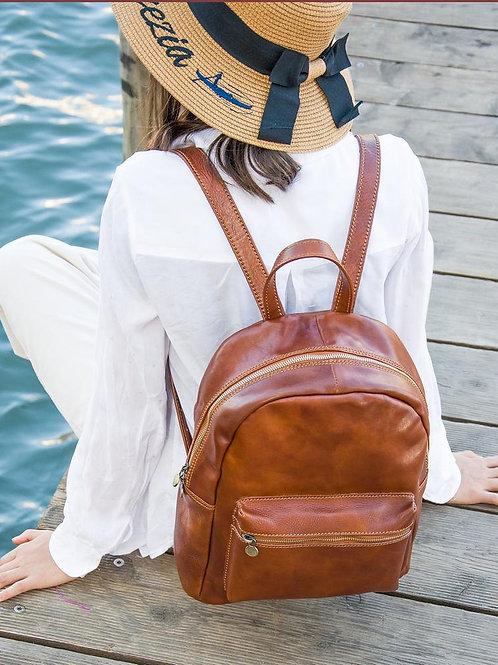 Кожаный рюкзак   Ручная работа   Италия