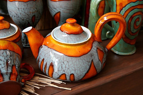 чайник керамический ручной работы, купить чайник керамический,ручная работы, hand made, агентство OvLGroup,
