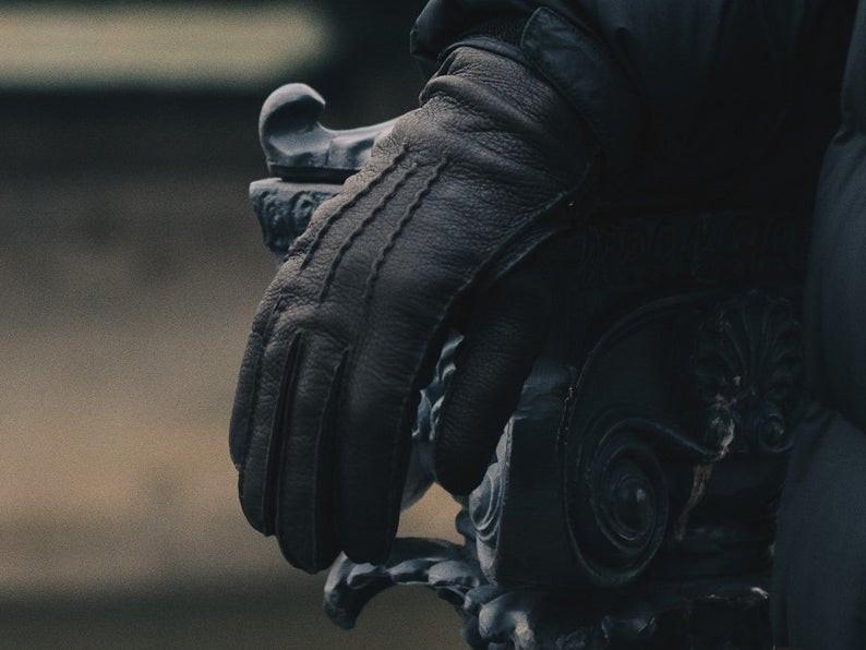 Men's gloves, winter gloves, leather gloves. handmade gloves,