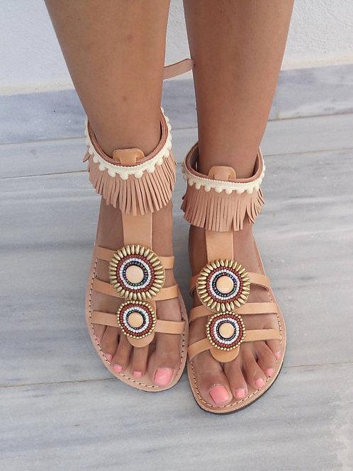 Sandals Women's, leather.Manual work.Gretia,сандалии ручной работы, сандалии женские, купить сандалии,