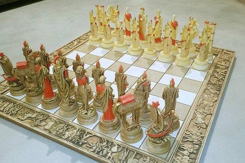 керамические шахматы ручной работы мастеров из Греции, купить шахматы, OvLGroup,