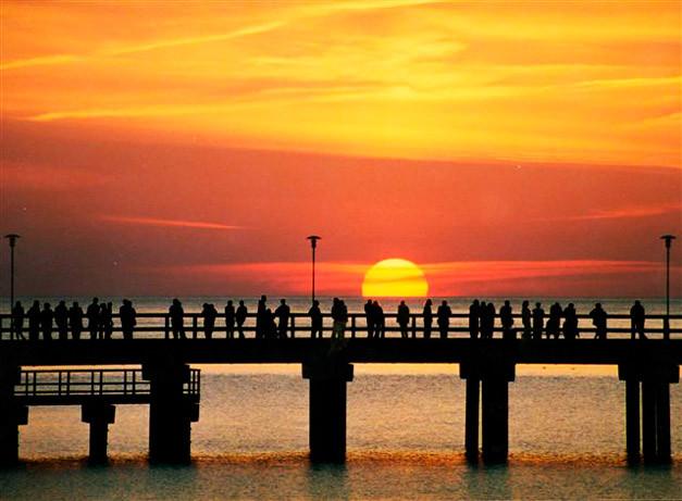 закат на мосту любви,Паланга,OvLGroup,