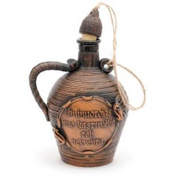 глиняная бутылка,сувенирная бутылка,подарочная бутылка, керамическая бутылка