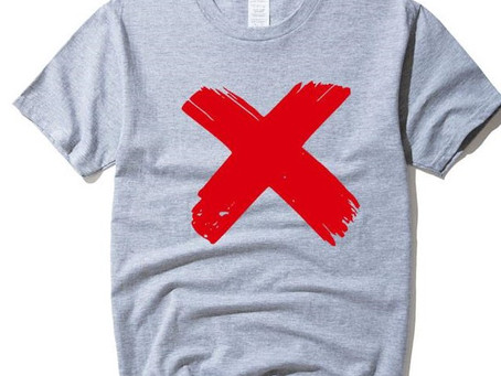 In Russia, choosing t-shirts for yourself is dangerous. For her they can put